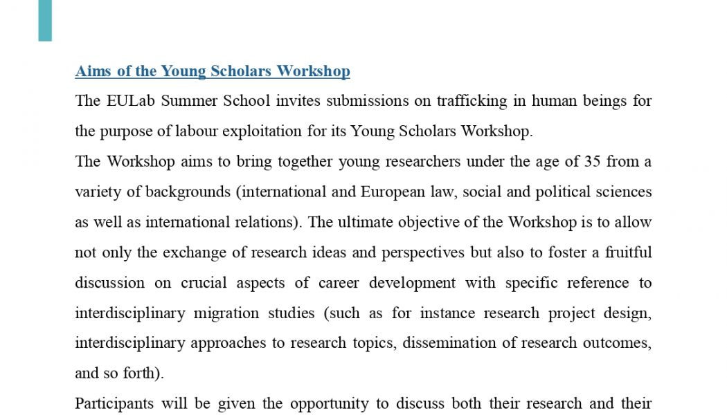 The Call for Insights for the 2021 Young Scholars Workshop is now online!