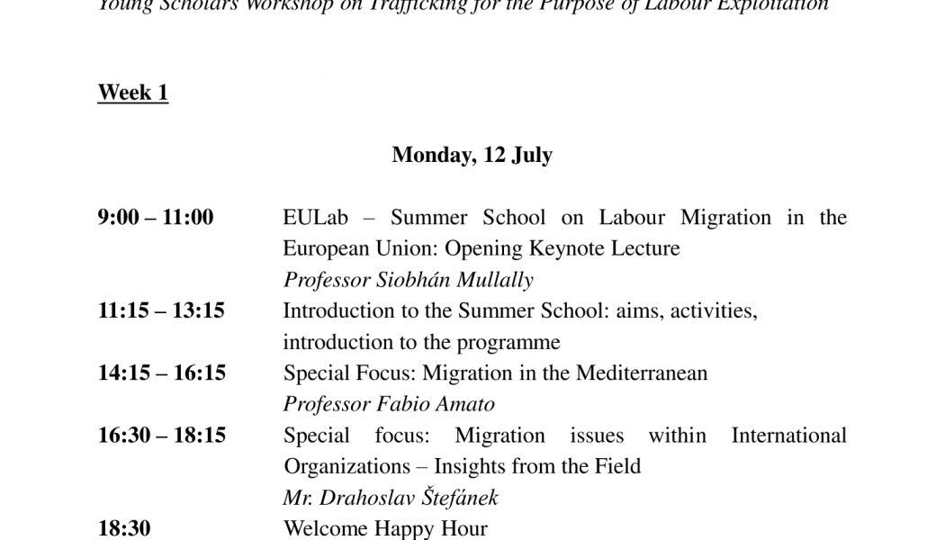 The updated version of the Programme of EULab 2021 is now online!